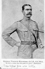 General Viscount Kitchener  Lord Boer War period old pc used 1902