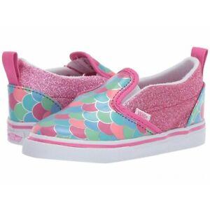 Vans Slip On V (Mermaids) Pink/Glitter Toddler Size  5.5