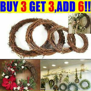 Christmas Artificial Vine Ring Wreath Rattan Wicker DIY Garland Xmas Party Decor