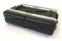 Equipment Case 2U 2RU 19-Inch Rack Pro Audio Roadcase Stackable Dual-Sided
