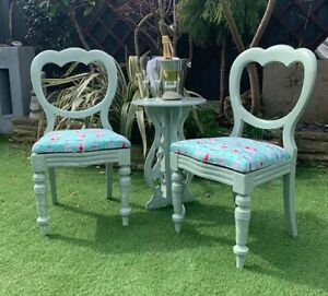 Vintage Chairs And Matching Small Table