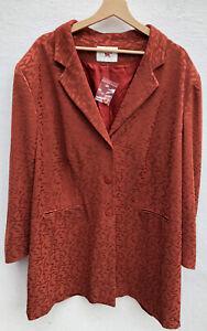 Ladies ANN HARVEY Terracotta Satin Evening jacket Size 24/26