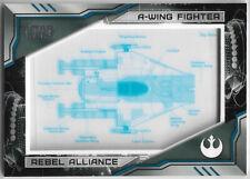 Star Wars Skywalker Saga 2019 ~ BLUEPRINT Insert BP-AW A-Wing Fighter #096/250