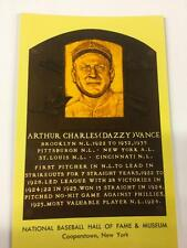 DAZZY VANCE  Hall of Fame Gold Plaque Post Card~Baseball~PIRATES...HOF