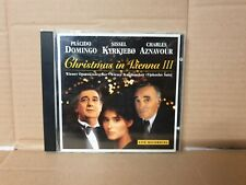 Christmas in Vienna III Domingo Kyrkjebo Aznavour CD Sony
