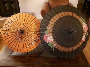 2 x Vintage Burmese Parasols