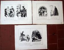 1850 LOTTO DI 3 INCISIONI CON SCENETTE CON BIMBI E RAGAZZI 'I RAGAZZI'
