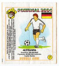 Portugese Gorila gum Wax Wrapper Euro 2004 - Team Colours & Flag - #7 Germany