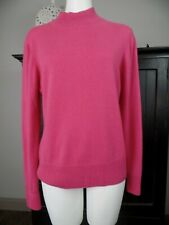 Investments Womens Small Pink 100% Cashmere Mock Neck Long Sleeve Sweater