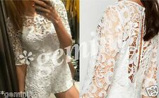 Zara Short Guipure Lace Overall Jumpsuit Playsuit in pizzo size M 38 5580/053