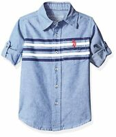 Childrens Apparel U.S Assn Toddler Boys Long Sleeve Printed US Polo Assn