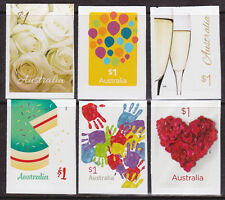 2016 Love to Celebrate - Complete Set of 6 x $1 Booklet Stamps