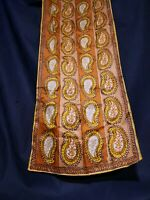 Vintage 1960's Psychedelic Paisley Vera Neumann Scarf (45 x 15)