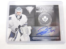 2013-14 Panini Metallic Marks Jonathan Bernier Maple Leafs Autographed Card jh1