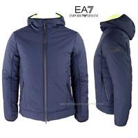 Emporio Armani EA7 Giubbotto uomo 6GPB27 blu Giacca con cappuccio inverno