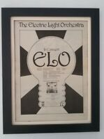 ELO*In Concert*1972*RARE*ORIGINAL*POSTER*AD*QUALITY FRAMED*FAST WORLD SHIP