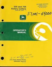 John Deere 509 And609 Rotary Cutters Operators Manual