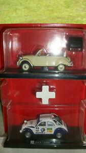 Dinky Toys / Norev / Solido - Deux Citroën 2 cv au 1/43