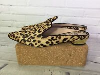 Sam Edelman Augustine Womens Size 6 Leopard Genuine Calf-Hair Mule Loafer Shoes