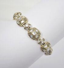 #8464 - Fabulous Designer K Thai - Sterling Abolone & Marcasite Pyramid Bracelet