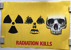 Radiation Kills Nuclear Radiation Sign Morphing Into Skull Poster