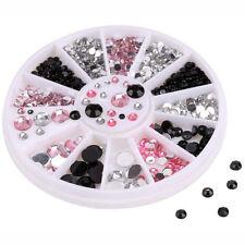 3 Farben 3D Acryl Kristall Strassteine Nageldesign Dekoration Fingernägel