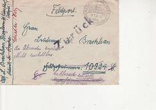 DR 1941 Kleinwalsertal Feldpost mit zweimal Nachsendung Besonderheit bitte lesen