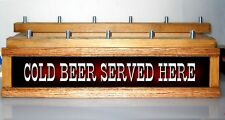 "LED LIGHTED 11 BEER TAP HANDLE DISPLAY 2 TIERS ""Cold Beer Served Here"""