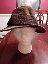 Hats of Ireland Castlebar Bucket Hat Pure Wool Donegal Tweed Ireland Vintage
