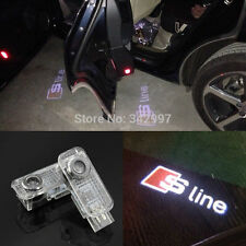 2x Ghost LED Door Courtesy Laser Light For Audi Sline S4 S6 R8 RS8 S5 A4 A6 Q7