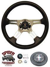 """1965-1969 Mustang steering wheel PONY 14"""" FOUR SPOKE steering wheel"""