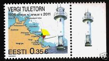 2011 ESTONIA ESTLAND ESTONIE Vergi  lighthouse , beacon ,Architecture , MAP  MNH
