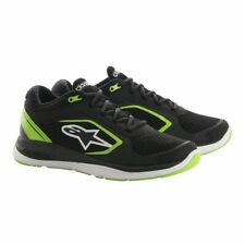 Alpinestars Alloy Motorcycle Casual Riding Shoes Trainers - Black / Green