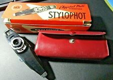 "✅ Vintage S.E.C.A.M. France STYLOPHOT Mini ""Spy"" Subminiature Pen Camera w/Case"
