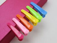 50 Mixed Bubblegum Color Plastic Prong Alligator Hair Clips Bows 35mm DIY
