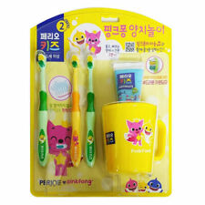 Pinkfong Baby Shark Kids Toothbrush Toothpaste Cup Set (3-5 Years Old) By Perioe
