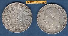 Belgique - 5 Francs 1868 Leopold II  - Belgium Argent Silver