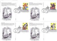 UX535-38 The Art of Disney Imagination postal cards  ArtCraft FDCs