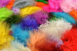 Fluffy Marabou Feathers for Arts and Crafts, 120 per pack, 3cm - 10cm long
