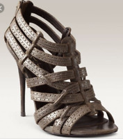 Elizabeth & James 11 Heels Lucy Caged Sandals Open Toe Strappy Leather Pumps