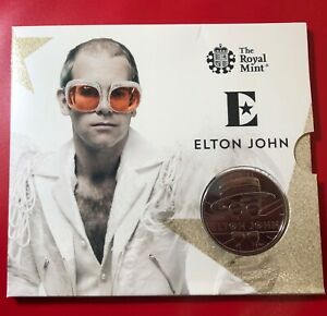 England Great Britain The Royal Mint Elton John 5 Pounds FDC 2020