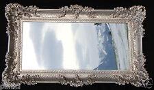 Miroir Mural Baroque Antique Argent Bad Décoration 97x58 Pour Couloir Grand