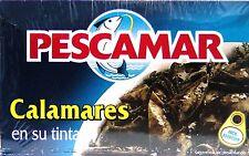lot de 5 boites de Calmars Dans Leur Encre de marque Pescamar