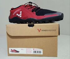 Vivobarefoot Men's Primus Trail SG Mesh - Black/Red - EU 46 US 13 - NEW