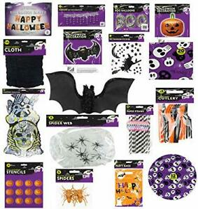 Halloween 17 Piece Decorations and Party Accessories Bundle