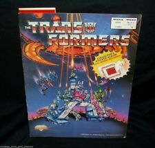 VINTAGE 1986 ORIGINAL HASBRO G1 TRANSFORMERS ACTIVITY KIDS BOOK W/ MAGIC DECODER