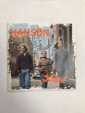 """THE HANSON BROTHERS SIGNED """"3 CAR GARAGE"""" CD COVER TAYLOR ZAC COA RARE!! PROOF!!"""