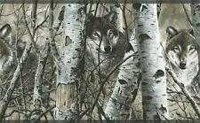 Wolves Peering Through The Forest Wallpaper Border WD4170B