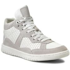 New Pepe Jeans Lindsay Woven High Top Trainers Sneakers White Sz-UK 5 RRP-£90.00