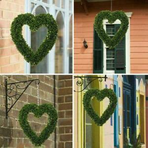 Garden ProductsTopiary Boxwood Heart Topiary Door Hanging Decor Sale Hot C4W0